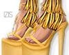I│Fringed Heels Yellow