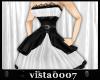 [V7] Black n White Dress