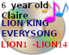 LION KING EVERY SONG