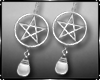 Gothic P Earrings