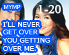 Never get over you MYMP