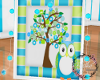 Baby Owl/ Tree Art