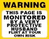 Husband Warning sticker