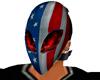 USA flag Alien Mask