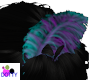 blue purple hair feather