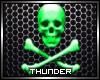 Green Skull Poster