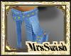 custom shimmer me boot
