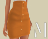 Orange High Waist Skirt