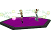 Purple wood dance floor