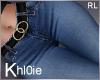 K blue jeans belted RL