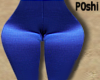 Blue Satin Leggings RLS