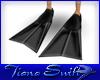 Black Scuba Fins (F)