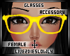 .L. Yellow Geeky Glasses