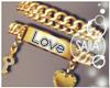 S! Gold Bracelets Love
