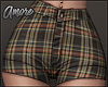 $ Skinny Plaid Shorts  M