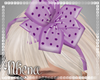 & Polka Lavender Bows