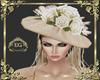Hat Bege Flor