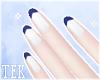 [T] Nails navy tips