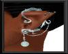 Teal Elven Earring