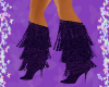 Purple Fringe Boots