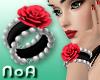 *NoA*Rose Bracelet Red/B