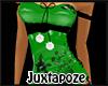 Green Flower Corset Top