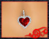 Ruby Heart Belly Ring