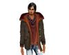 Rust n Brown Mans Coat