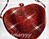 -Mm- red Heart Purse
