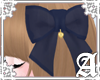 Sheer Ribbon Clip~ Navy