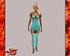 Teal Short Dress w/Hose