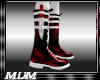(M)~Blade Boots wht/red