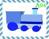Blue Wooden Train