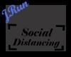 Sign Social Distancing M
