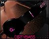 !B Pink Black Headphones