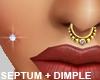 Septum Cheek Piercing