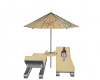 chairs with umbrella