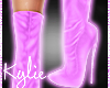 LilacDream Leather Boots