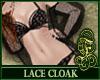 Lace Cloak Black