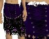 Purple corset lace skirt