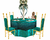 teal dining set