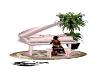 piano a queue room pink