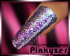 P! GLITTER Pink Nails
