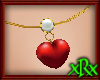 Heart/Pearl Necklace