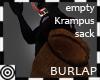 *m Krampus Sack Burlap