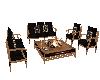 oak sofa set