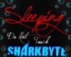 {E} Sleeping sign