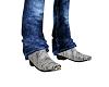 Cowboy Boots Gray/Blk