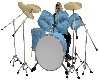 Blue with Gold trim drum
