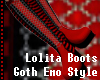 First Lolita Red Boots